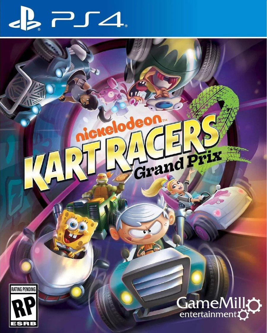 Nickelodeon Kart Racers 2: Grand Prix Box Art PS4 PlayStation 4