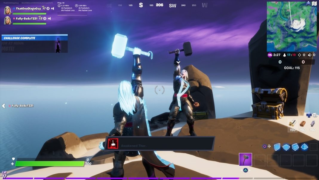Fortnite-Emote-as-Thor-Mountaintop-Ruins