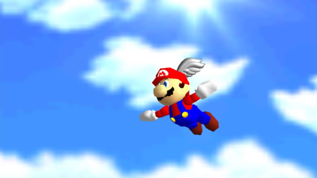 Super-Mario-64-How-to-Unlock-the-Wing-Cap-Red-Box