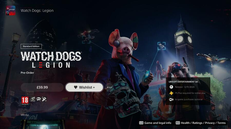 PS Store Wunschliste PS5
