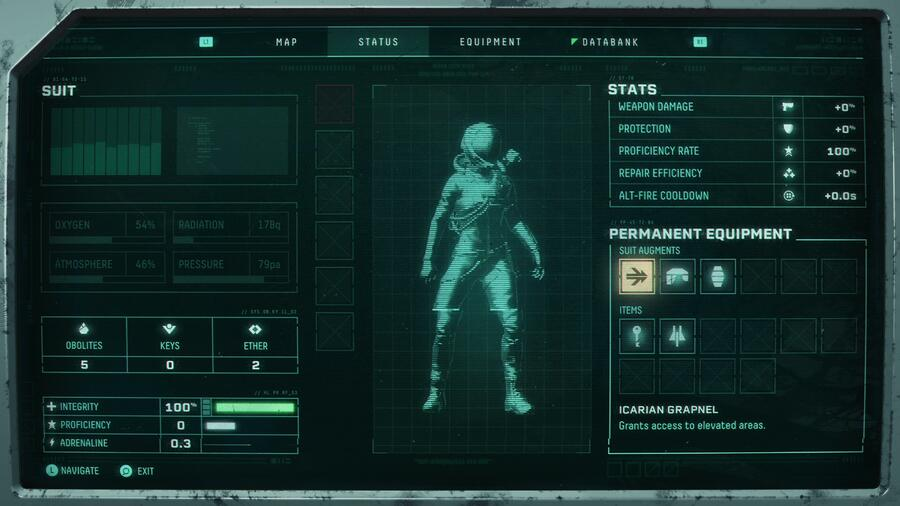 Returnal Suit Stats