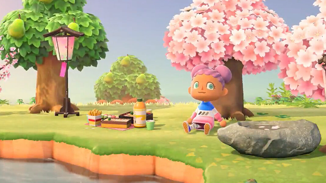 animal-crossing-isabelle-twitter-cherry-blossoms