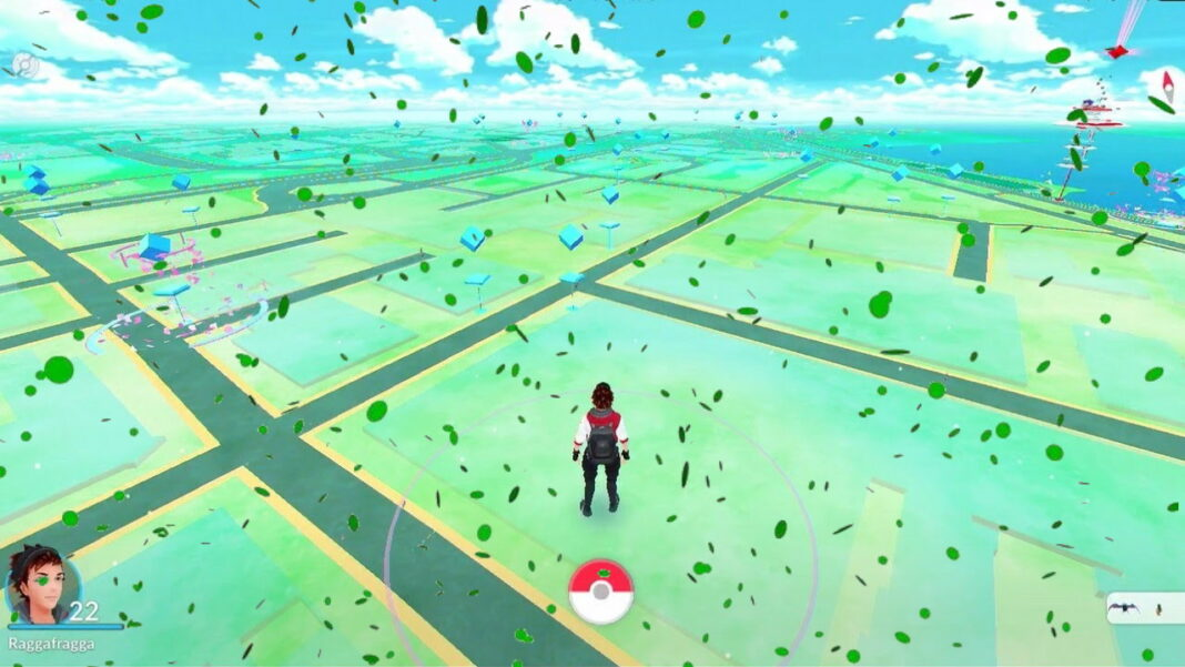 Pokemon-GO-Why-is-Green-Confetti-Falling-on-the-Map-Screen